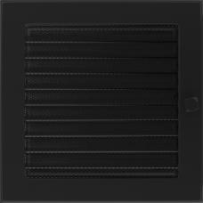 Convectierooster Black Afsluitbaar 22x22