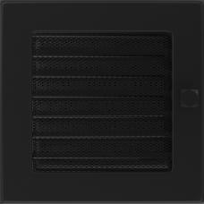 Convectierooster Black Afsluitbaar 17x17