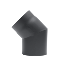 Kachelpijp 180 Staal 2 mm Bocht 45 Graden