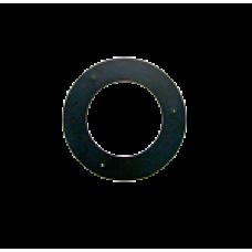 Kachelpijp 180 Staal Rozet Kleur Zwart